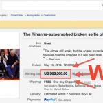 iPhone Rusak Bertandatangan Rihanna Terjual Rp.700 Juta!