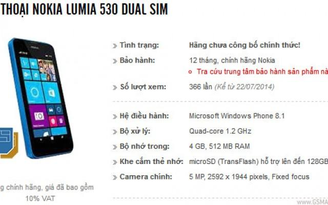 Nokia Lumia 530, Usung Layar 4 Inci,CPU Quad Core