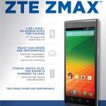 ZTE ZMax Z970, Spesifikasi Android KitKat Quad Core