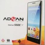 Spesifikasi Advan Vandroid S50C, Harga Smartphone Android KitKat Quad Core