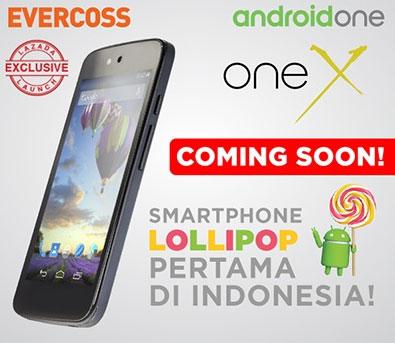 harga dan spesifikasi Evercoss One X Android One