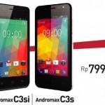 Andromax C3s dan C3si, Dua Produk Smartphone Khusus Selfie Resmi Dirilis Seharga Rp 800 Ribuan