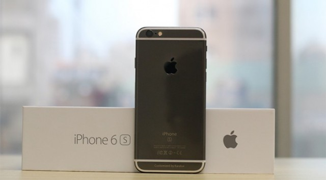 iPhone 6S Black Gold