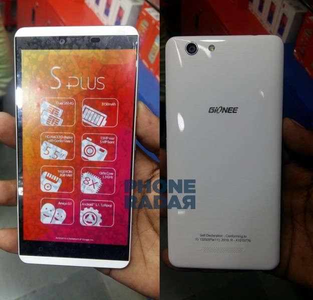 Gionee Elife S Plus
