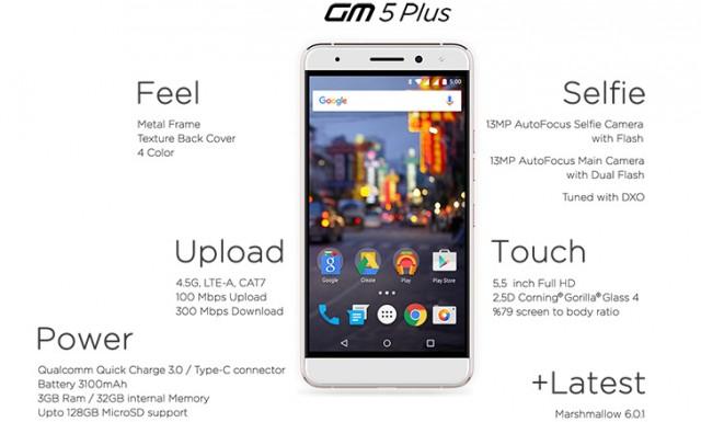 General Mobile GM5 Plus