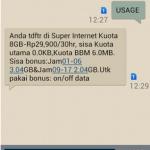 Cara Mengecek Sisa Kuota atau Data Internet IM3 Indosat