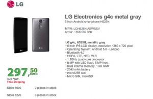 Spesifikasi LG G4c