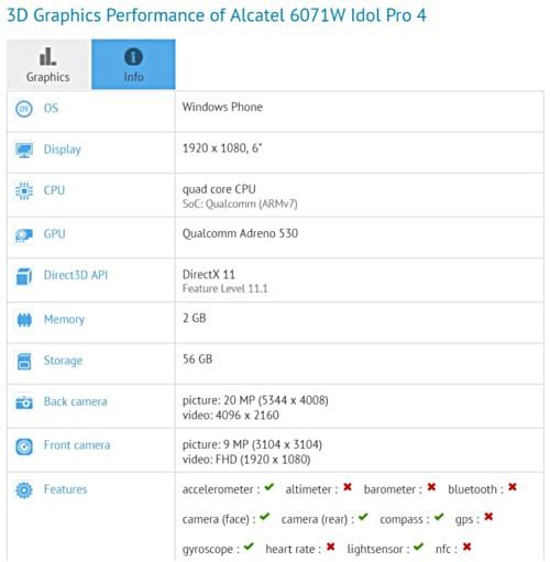 Alcatel OneTouch Idol 4 Pro